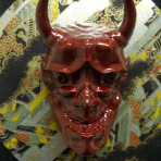 Noh Oni Mask Shadow Box – 1 of 6 Limited Edition