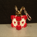 White Rabbit Companion Cube Charm