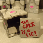 Companion Cube Keepsake Box