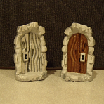 Wooden Dungeon Door Miniature with Lock